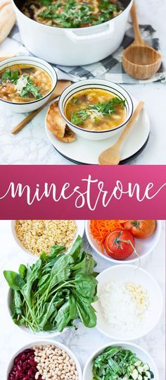 Minestrone Soup | homemade soup recipes | cold weather dinner recipes | homemade minestrone soup || Oh So Delicioso #minestronesoup #souprecipes