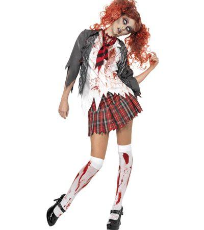 Halloween Zombie schoolmeisje kostuum - Schoolmeisjes - Bellatio warenhuis