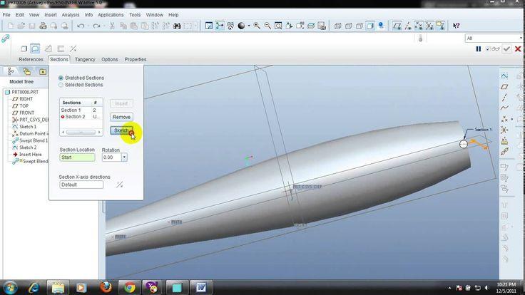 How to design in Pro engineer 5.0 - Motorcycle exhaust