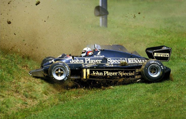 itsawheelthing:  game over …Elio de Angelis, JPS Lotus-Renault 94T, 1983 Austrian Grand Prix, Zeltweg