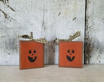 Primitive Fall Decor, Fall Decor, Jack O' Lantern, Pumpkin, Halloween Decoration, Country Fall Decor, Rustic Fall, Primitive Halloween Decor