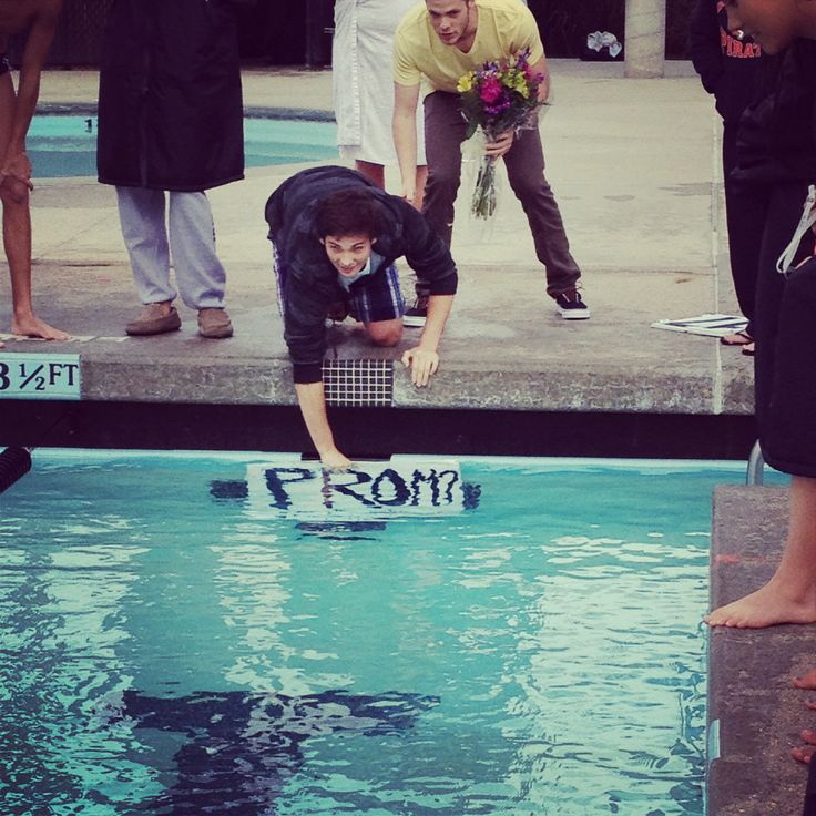 82 best creative ways to ask someone to promformal images on this boy asked this girl to the prom by putting a sign in the pool during the last lap of the 500 meters at her swim meet exactly how ccuart Gallery