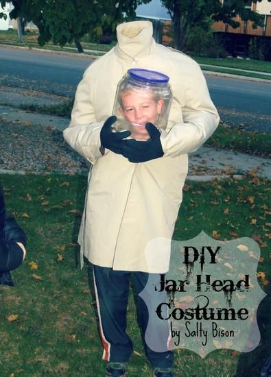 DIY Men Halloween Costumes : DIY Costume: How to make a Jar Head!
