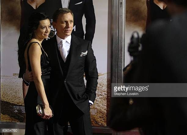 Satsuki Mitchell and actor Daniel Craig attend the Tribeca Film Institute's 2008 Fall Benefit Screening of 'Quantum of Solace' at AMC Lincoln Square...