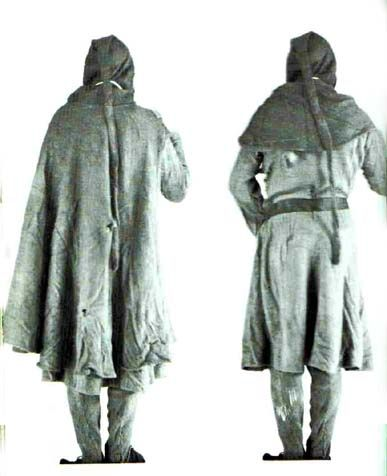 Bocksten Man - well-preserved man's clothing from the 2nd half of 14th century, Vaberg Museum.