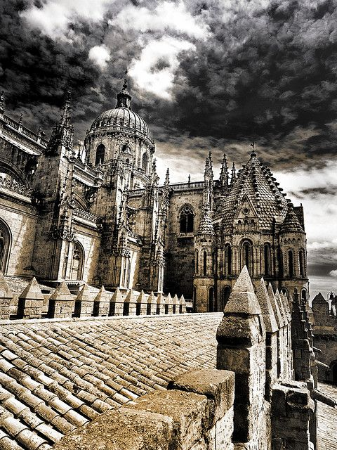 XVI century late gothic Cathedral of Salamanca, Castile and León, Spain