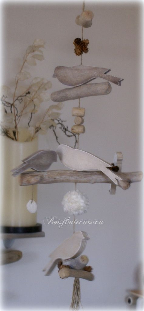 Guirlande oiseauy et bois flott activit s manuelles pinterest driftwoo - Pinterest bois flotte ...