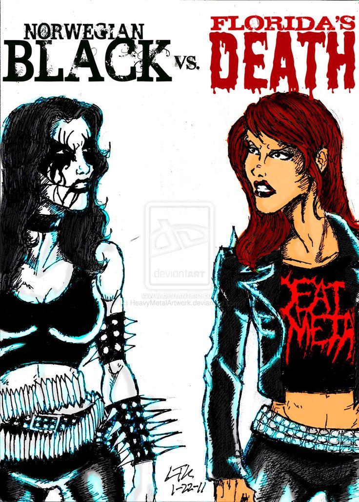 heavy metal metalhead memes | Black Metal Vs. Death Metal by ~ HeavyMetalArtwork