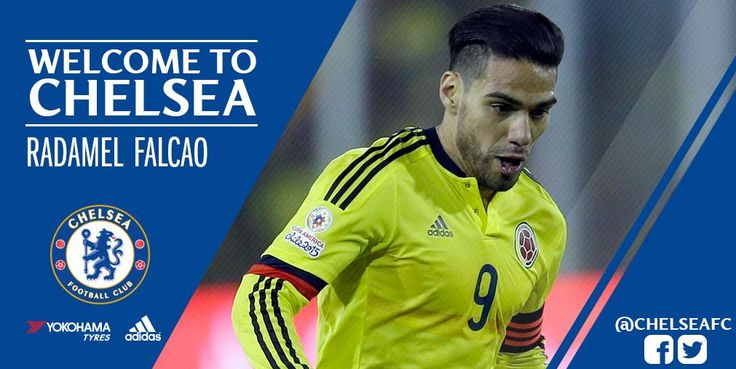 DONE DEAL: Chelsea have confirmed the signing of Radamel Falcao from Monaco on a season-long loan.  #CFC #Chelsea #Football #News #Transfer #EPL #Monaco #Squawka