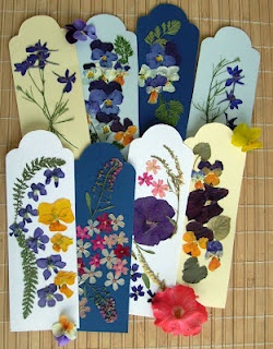 pressed flowers bookmarks  handmade, diy