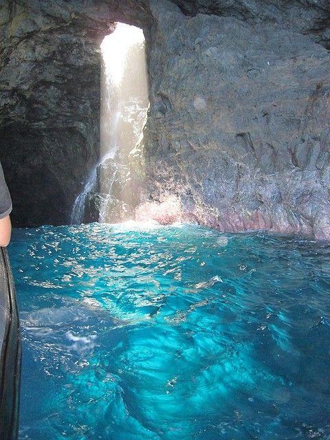 10 Most Incredible Cave Waterfalls on Earth  Waiahuakua sea cave, hawaii