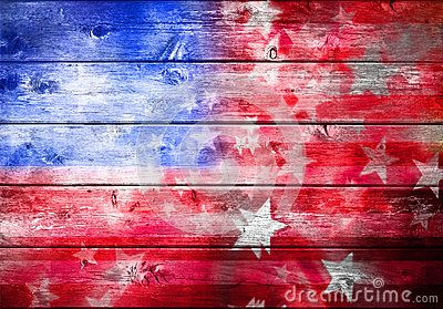 I want this on the wall of the garage that faces our deck....yet another project to accomplish.  A wood surface with red white and blue abstract American flag with stars and stripes