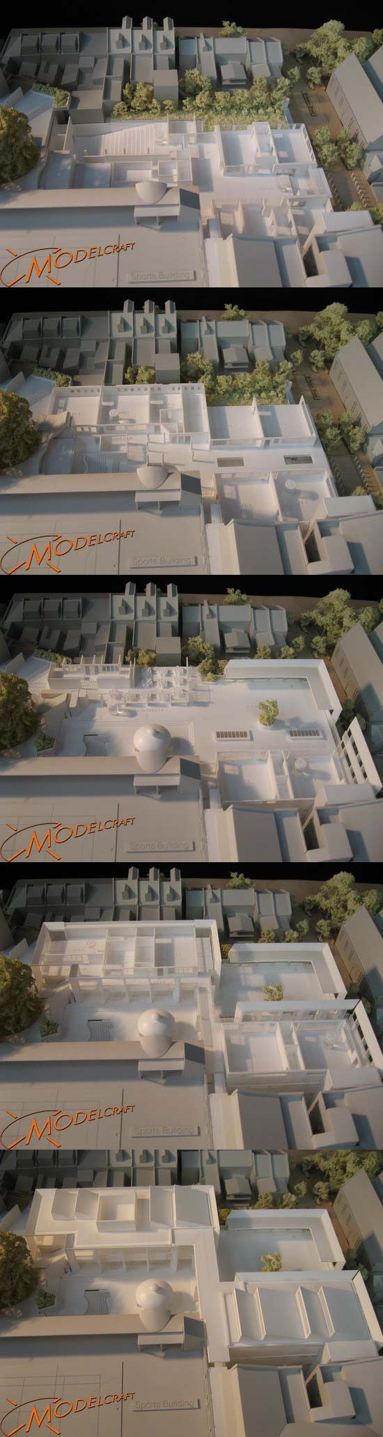 1:200 SCEGGS. Architectural Model by Modelcraft (NSW) Pty Ltd