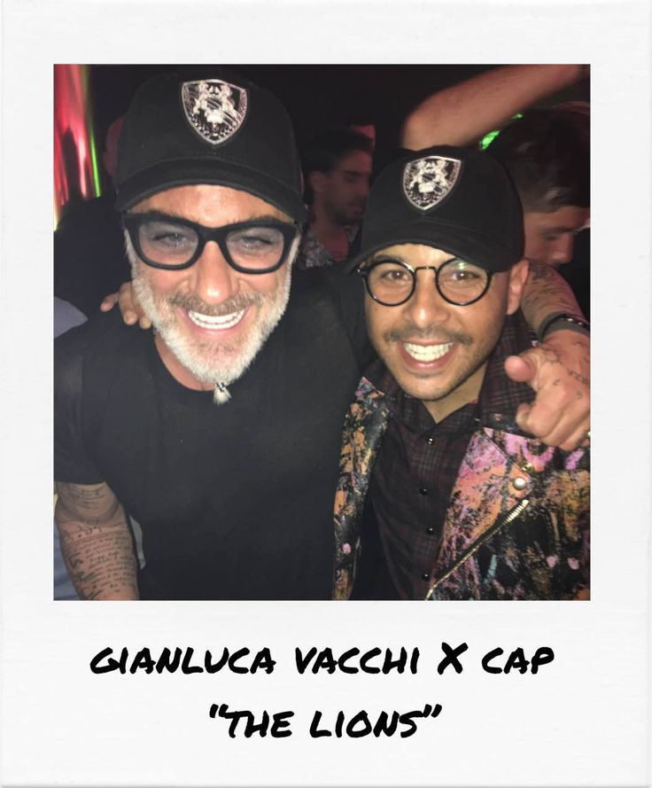"""Gianluca Vacchi VS Richard Valentine's new cap """"The Lions"""" during the Cannes Film Festival"""