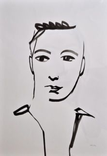 Annemarie Fledderus - drawing, inspired by  Matisse, O.indische inkt , 2014