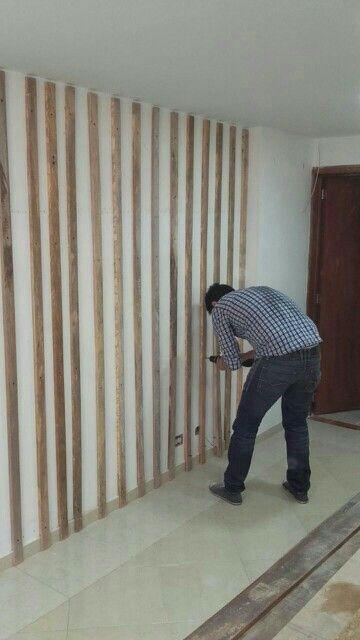 Instalación de parales verticales