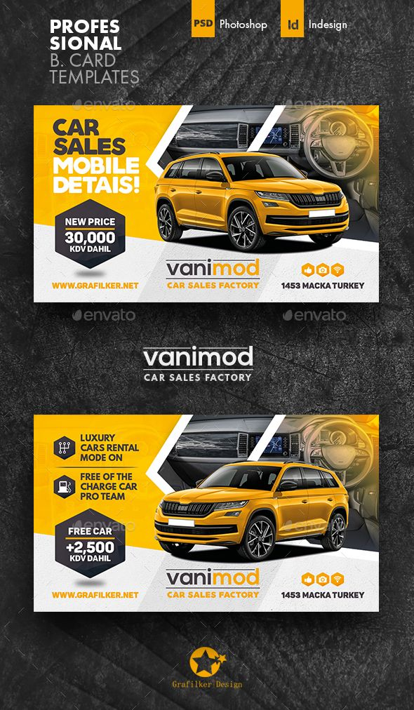 Car Sales Business Card Templates Free Business Card Templates Cars For Sale Business Card Template Design