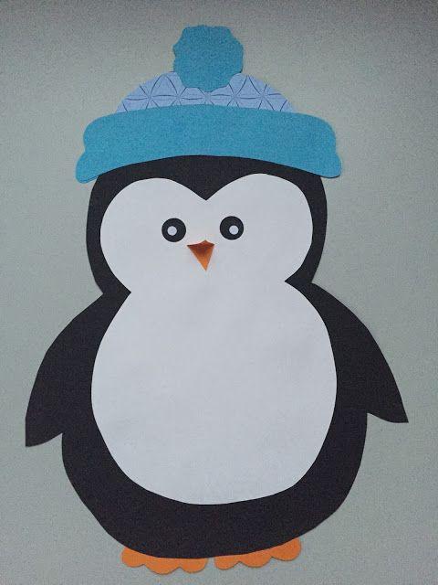 Fensterdeko: Pinguin & Freebie   Vorschulkunst, Schneemann ...