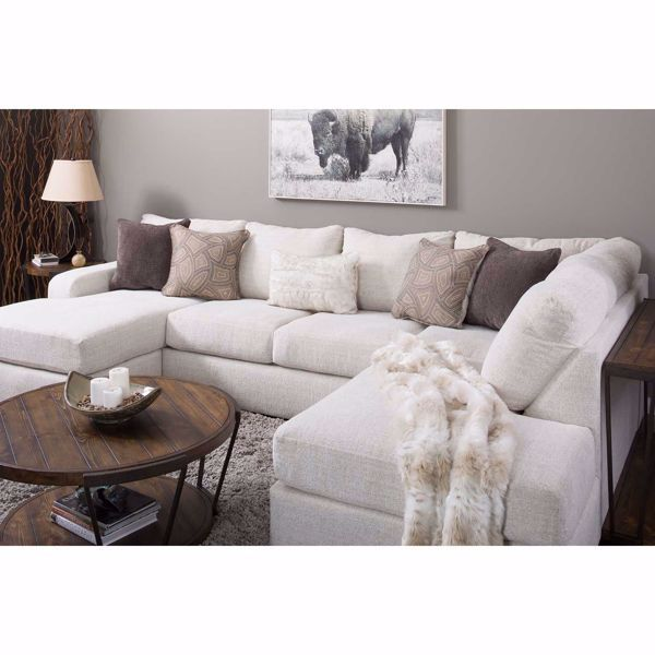 Amplify Beige 2 Piece Raf Sofa Chaise Sectional Sectional Sofa