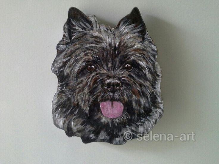 Magneet Cairn Terrier www.selena-art.nl