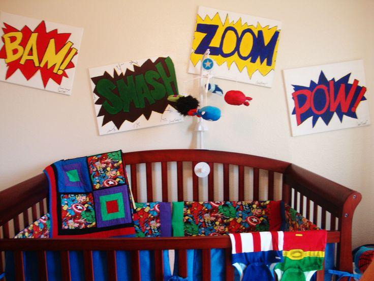 Marvel Superheroes Crib Bedding