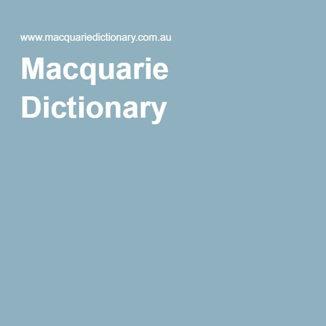 Australian Word Map, Macquarie Dictionary