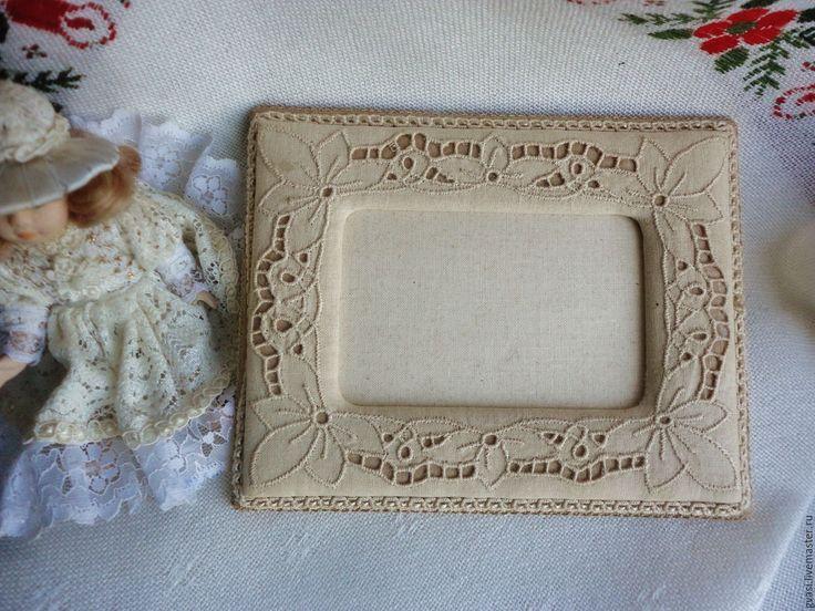 Купить Вышитая текстильная рамка ручной работы. Винтаж из Австралии. - текстиль для дома, текстиль для интерьера