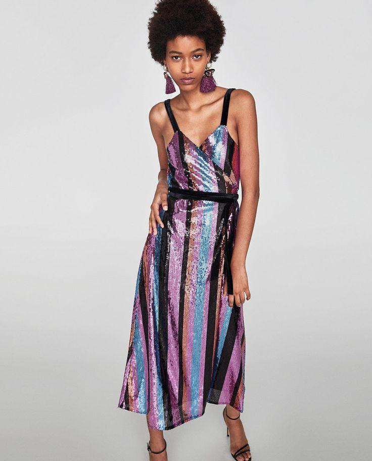 ZARA - WOMAN - CROSSOVER SEQUINNED DRESS