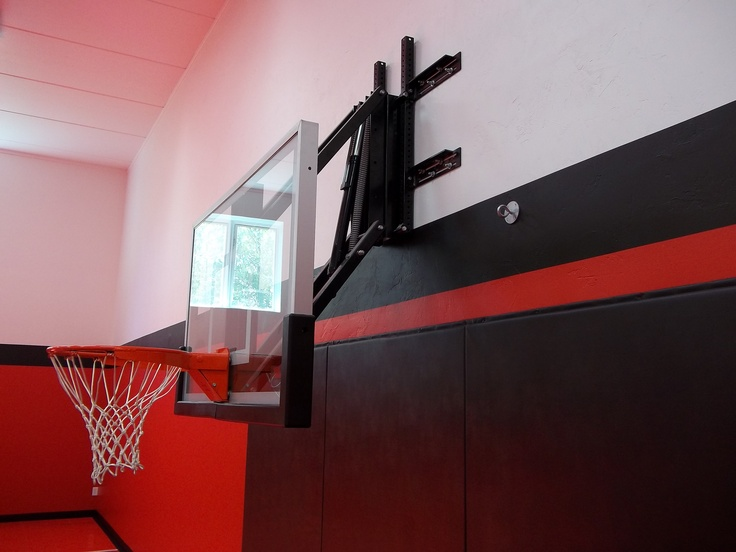 26 best man caves images on pinterest future house for Custom indoor basketball court