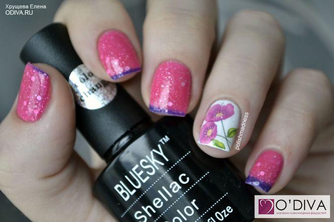 Bluesky, термо гель-лак Shellac (фиолетово-розовый TC026) http://odiva.ru/~1AnE0 #гельлак #шеллак #shellac #bluesky #блюскай #дизайнногтей #ногти #идеиманикюра #маникюр