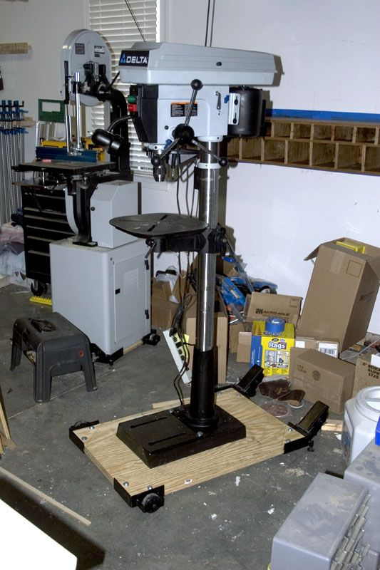 Mobile Base For Drill Press In 2020 Drill Press Table