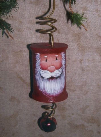 Santa face on spool