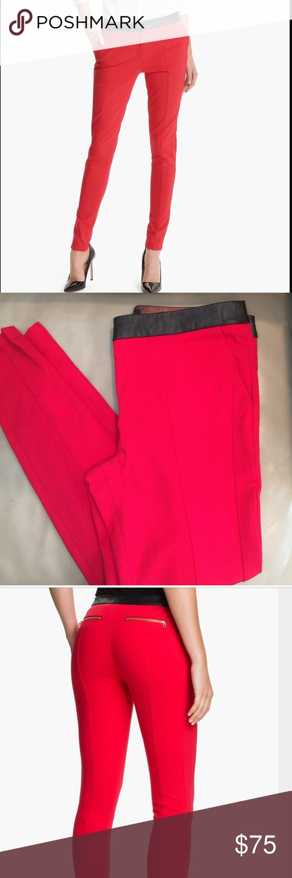 Ted Baker red ponte leggings skinny pants contrast Amazing brick red ponte skinny pants brand new but some tags cut out and marked to prevent returns. These are a Ted Baker size 3 equal to an 8. Please let me know if you have any questions. Thank you! Ted Baker Pants Skinny