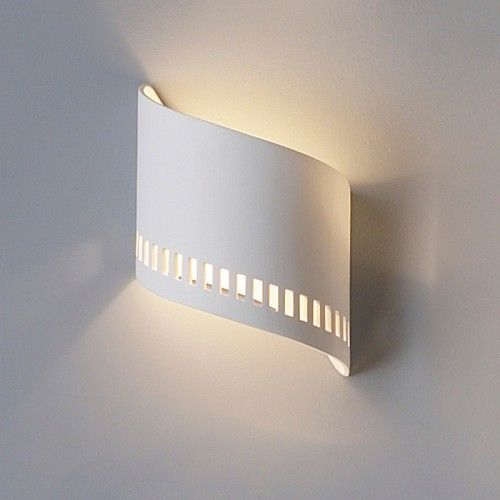 """9"""" Ceramic Ribbon Wall Sconce with contemporary cut-out pattern"""