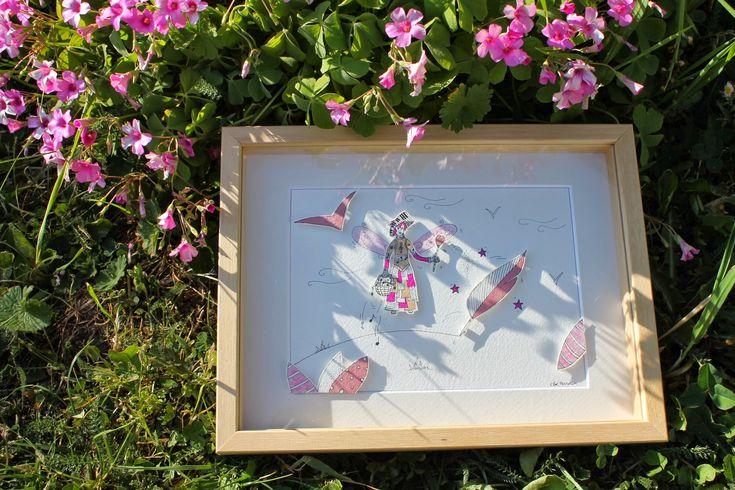 La muse de l'écriture et de la musique pour le DIY pour une illustration en papiers découpés