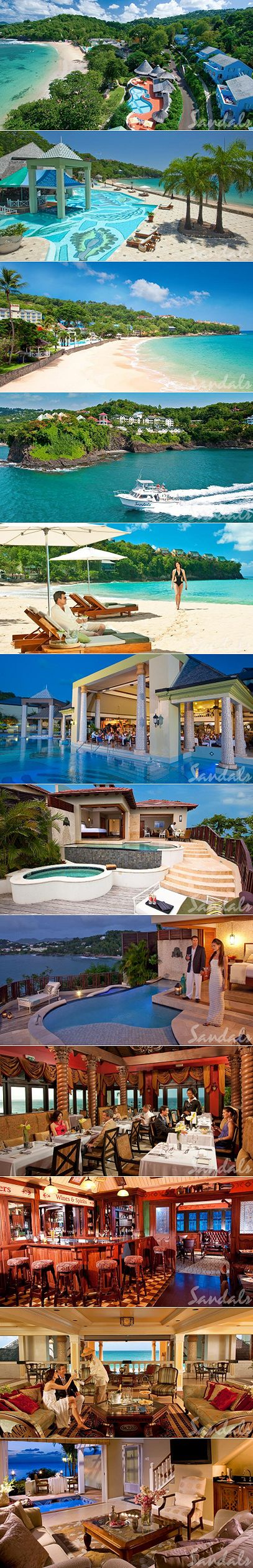 Sandals all inclusive honeymoon resort in St. Lucia...beyond excited..looked endlessly for the right spot..glad we looked into other islands..heard so much about it :) CHRISTMAS 2013 w/ my family and hubby