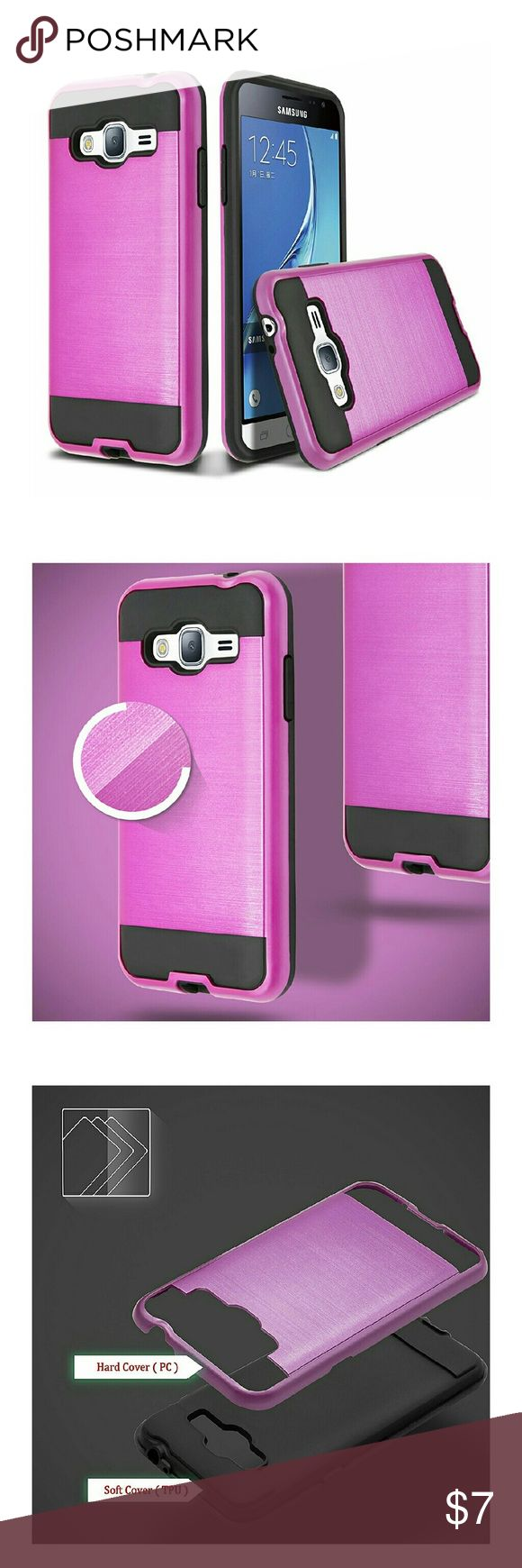 Samsung Galaxy j 7 case Hybrid hot pink  cases for Galaxy J7 brand new  ? 2015 phone. 4th  picture shows the phone style it'll fit Samsung  Accessories Phone Cases