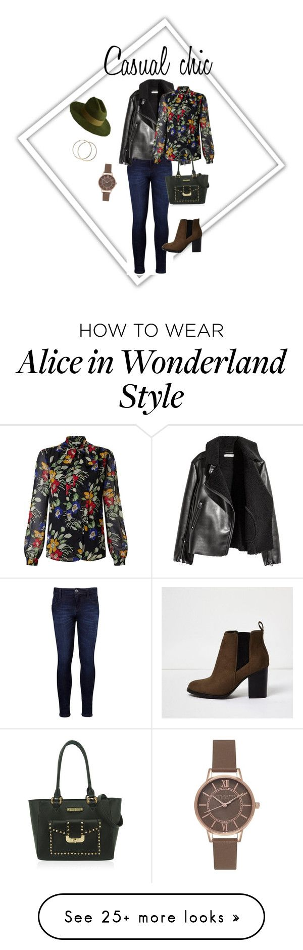 """""""Casual chic"""" by kadie-bespoke on Polyvore featuring Levi's, River Island, Somerset by Alice Temperley, Brixton and Olivia Burton"""