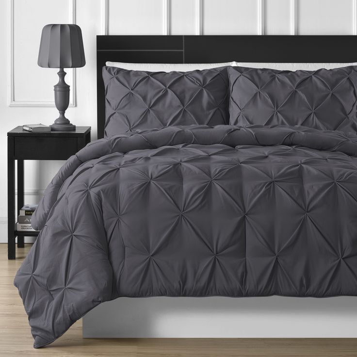 Comfy Bedding Durable Stitching 3-piece Pinch Pleated Cal King Size Comforter in