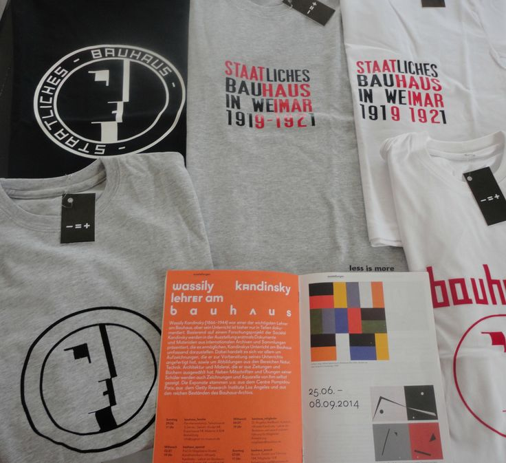 Less is more Bauhaus Tees Collection
