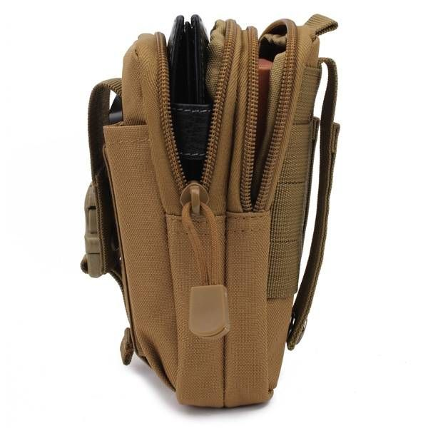 EU Direct | D30 Men's Tactical Waist Bags Outdoor Sport Saddlebag Purse Mobile Phone Case fo