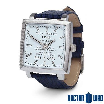 Montre Dr Who Tardis Cadran Carré : Kas Design, Distributeur de Produits Dr Who