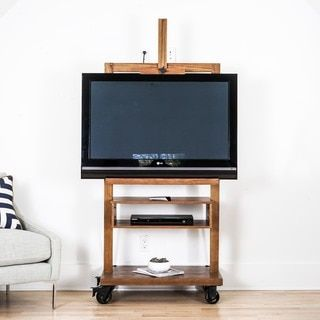 Shop for Cullen Deco Walnut TV Stand Entertainment Center, Haven Home by Hives