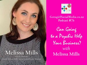 So would you or wouldn't you?  Go to see a Psychic?  Yep… this is a bit of an unique topic for a business podcast but many people are intrigued by the concept of getting insight about what the future holds.  In this episode I'm chatting with Melissa Mills from Melissa Mills International Psychic Medium.  She used to ride camels & speaks fluent french and now she uses her gift to help people understand their past and gain insight into their future.