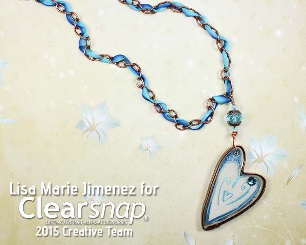 Resin Dancing Heart Pendant Day 2 of the Handmade Holidays Blog hop begins with a necklace featuring a handmade bezel using ICE Resin and glitter. See how Lisa Marie Jimenez created this stunning piece in the step by step tutorial on our blog at blog.clearsnap.com. Then continue on the hop to see over 80 gift ideas and enter to win a $600+ value ultimate crafter's kit with products from your favorite manufacturers. We've included all of our NEW Pigment ink Cat's Eyes and the Teresa Collins…