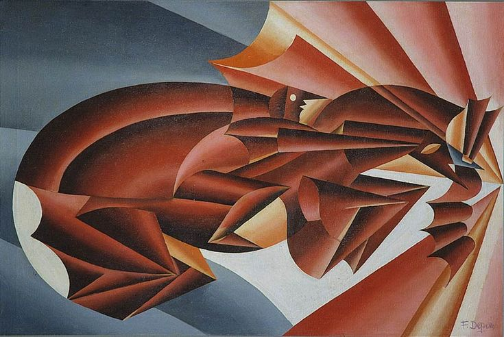 Fortunato Depero (1892-1960), Neighing at Speed, 1932