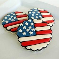 fourth of july meringue cookies