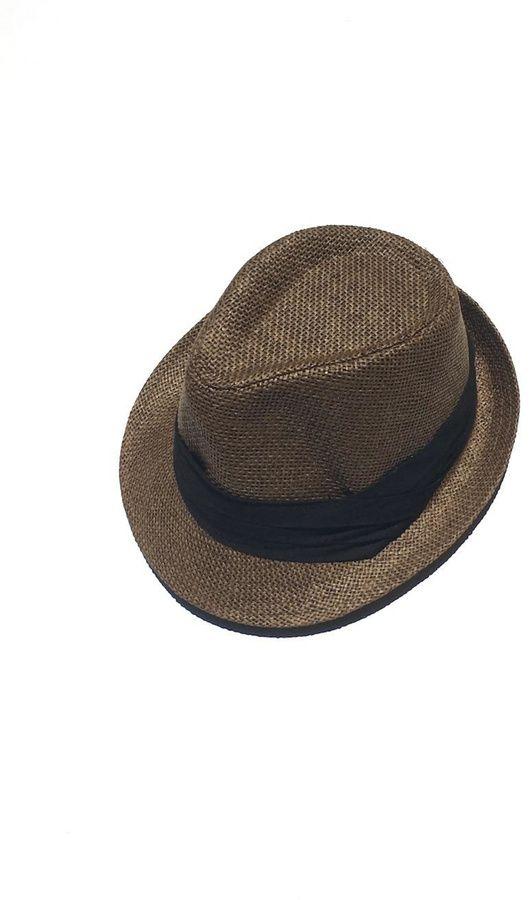 Jeanne Simmons Straw Fedora Hat