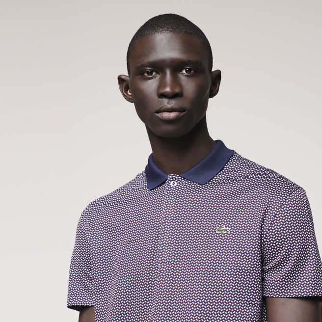 Slim Fit Lacoste Polo with Contrasting Collar, Lacoste