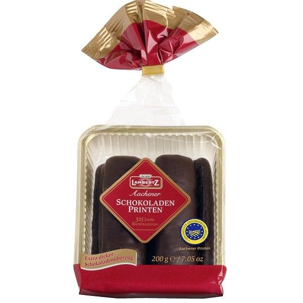 Lambertz Aachener Schoko Printen are baked according to the original recipe and named for the city of origin. These unique gingerbread cookies have a firm texture. Full-flavored with a vast range of Chritsmas spices (cinnamon, cloves,...